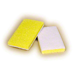 Scrubble® Fine White Backed Scrubber Sponge - 1/20