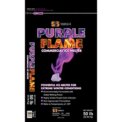 SSS® Purple Flame Commercial Ice Melter - 50 lb. Bag