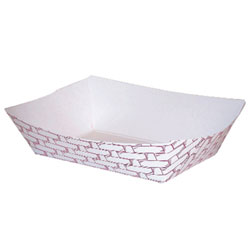 300 3# Red Weave Food Tray (500)