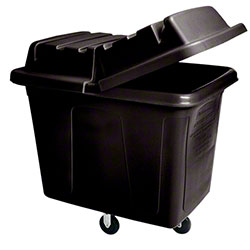 Rubbermaid® Cube Truck - 12 cu ft, Black