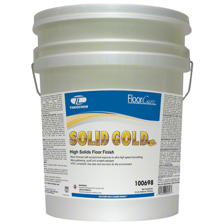 Theochem Solid Gold High Solids Floor Finish - 5 Gal.