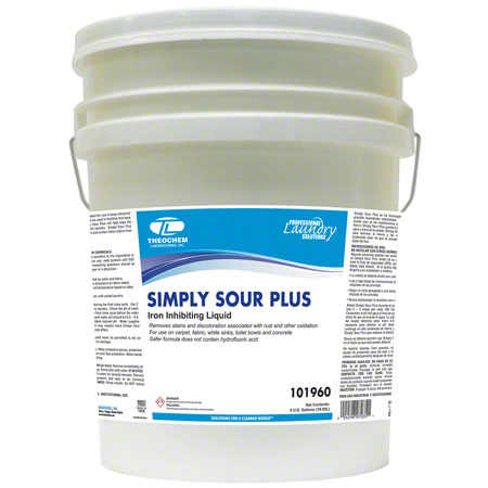 Theochem Simply Sour Plus Liquid Laundry Sour - 5 Gal.