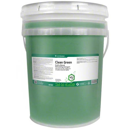 US Chemical Clean Green Manual Dishwashing Detergent -5 Gal.