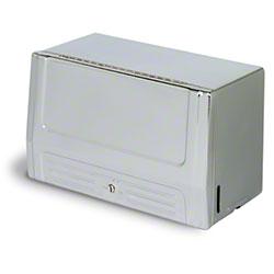 Continental Single Fold Towel Cabinet - Chrome