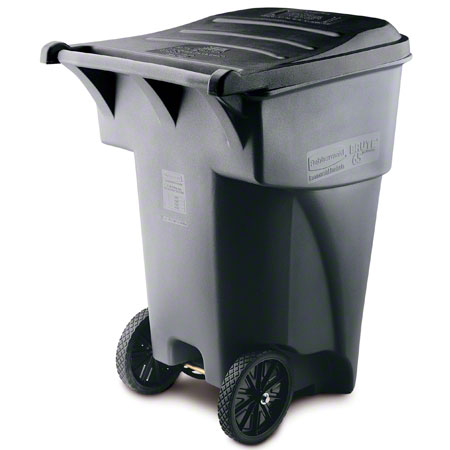 Rubbermaid® BRUTE® Rollout Container - 95 Gal., Gray