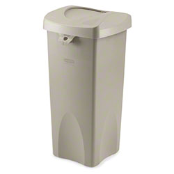 Rubbermaid® Untouchable® Square Container-23 Gal., Beige