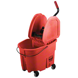 Rubbermaid® WaveBrake® Down Press Combo - 35 Qt., Red