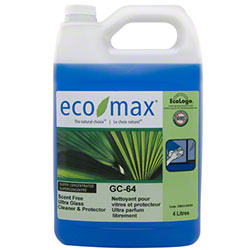 Eco-Max® GC-64 Scent Free Ultra Glass Cleaner - 4 L