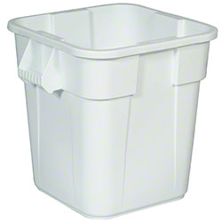 Rubbermaid® BRUTE® Square Container w/o Lid-28 Gal,White