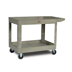 "Rubbermaid® 2 Shelf Cart w/5"" Casters - 45 1/4"" L, Beige"