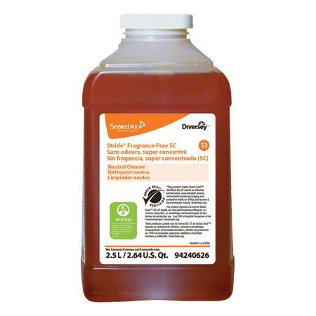 Diversey Stride® Fragrance Free Neutral Cleaner - 2.5 L