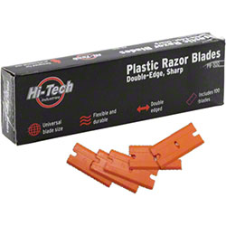 Hi-Tech® Plastic Double-Edge Sharp Razor Blade