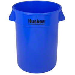 Continental Round Huskee w/o lid - 32 Gal., Blue
