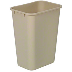 Continental Commercial Plastic Wastebasket -41 1/4 Qt, Beige