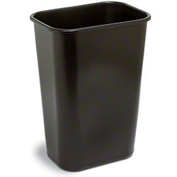 Continental Commercial Plastic Wastebasket -41 1/4 Qt, Brown