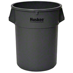Continental Round Huskee w/o lid - 55 Gal., Grey