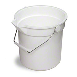 Continental Huskee Bucket w/Pouring Spout - 10 Qt., White