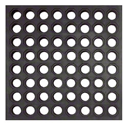 Crown Industrial Safety-Step™ Mat - 3' x 3', Black