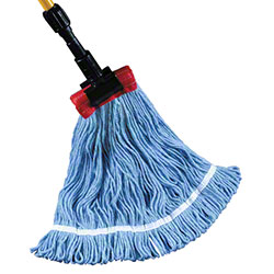 "Golden Star® Starline™ Blend Wet Mop - LG, 5"", Blue"