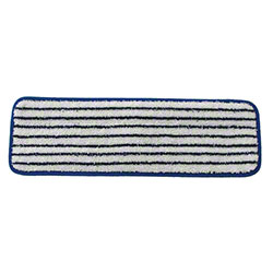 "Golden Star® HD Microfiber Finish Mop Pad - 5"" x 18"", Blue"