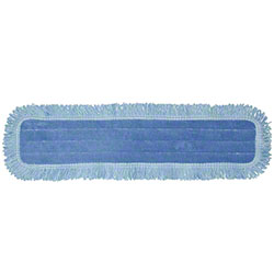 "Golden Star® HD Microfiber Dust Mop Pad - 5"" x 18"", Blue"