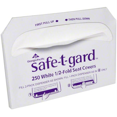 GP Safe-T-Gard™ 1/2 Fold Toilet Seat Cover - 250 ct.