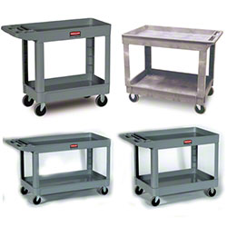 rubbermaid 2 shelf heavy duty carts
