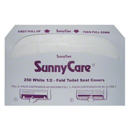 SunnyCare® 1/2 Fold Toilet Seat Cover - 250 ct.
