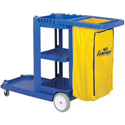 Continental Janitor Cart - Blue
