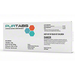 Purtabs 334mg Effervescent Disinfecting & Sanitizing Tablets