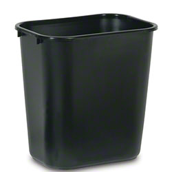 Rubbermaid® Deskside Wastebasket - 28 1/8 Qt., Black