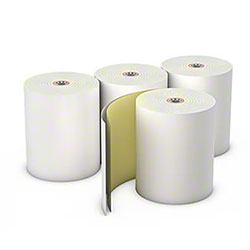 "AmerCare® 2 Ply Carbonless Paper Roll - 3"" x 95'"