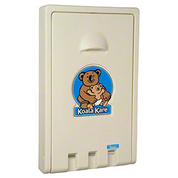 Koala Kare Vertical Wall-Mounted Baby Changing Station-Cream