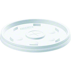 Dart® Translucent Straw Slotted Lid For 12,14, 16, 20,24oz