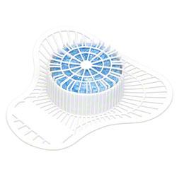 Big D® Urinal Screen w/Non-Para Block - 1500 Flush, Apple