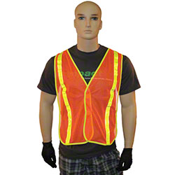 Impact® Orange Safety Vest w/Reflective Stripes