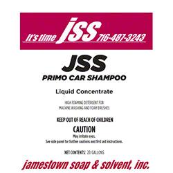 JSS Primo Car Shampoo - 20 Gal.