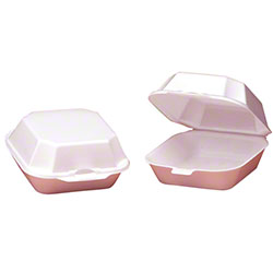 Genpak® Medium Sandwich Container - White