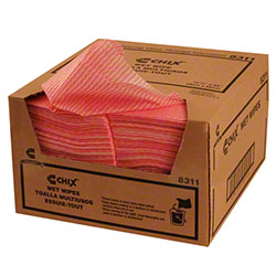 "Chicopee® Chix® Wet Wipe - 11.5"" x 24"", Pink"