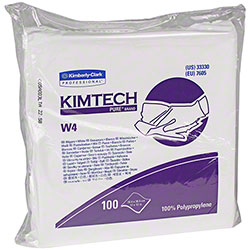 "KC Kimtech Pure™ W4 Dry Wiper - 12"" x 12"", White"