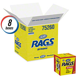 Scott® Rags-In-A-Box - 200 ct., White