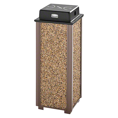 Rubbermaid® Aspen Sand Urn w/Weather Shield - Brown