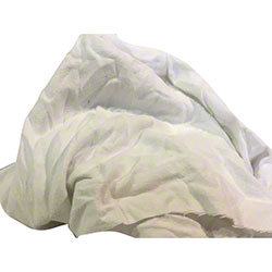 Reclaimed White Pre-Washed Cotton Flannel - 50 lb. Box
