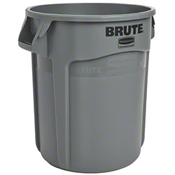 Rubbermaid® BRUTE® Vented Container - 20 Gal., Gray
