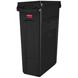 Rubbermaid® Slim Jim® Waste Cont. - 23 Gal, w/Vent,Black