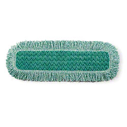 "Rubbermaid® HYGEN™ Microfiber Fringed Dust Mop -24"", GN"