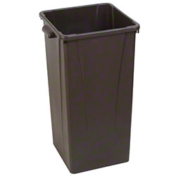 Carlisle Centurian™ 23 Gal. Tall Square Trash Can - Brown