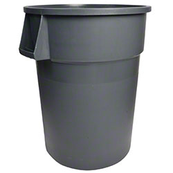 Janico Round Garbage Container - 44 Gal., Grey