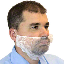 Safety Zone PolyPro Beard Cover - White