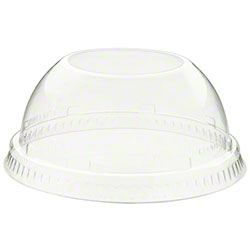 "Dart® Clear Dome Lid w/1.5"" Hole"